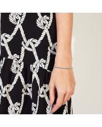 John Lewis - Metallic Mini Bead And Diamante Stretch Bracelet - Lyst