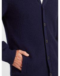 John Lewis - Blue Cashmere Shawl Cardigan for Men - Lyst