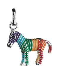Links of London - Multicolor Sterling Silver Rainbow Zebra Charm - Lyst
