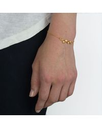 Alex Monroe - Metallic 22ct Gold Plated Forget Me Not Drift Bracelet - Lyst
