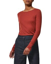 Toast - Red Long Sleeve Fine Wool Top - Lyst