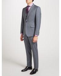 Richard James - Gray Wool Sharkskin Slim Fit Suit Jacket for Men - Lyst