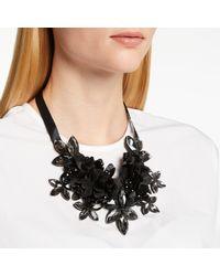 John Lewis - Black Floral Statement Necklace - Lyst