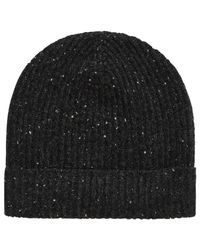 Brora - Gray Donegal Cashmere Ribbed Hat - Lyst
