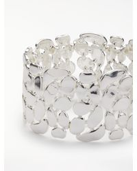 John Lewis - Metallic Pebble Stretch Cuff - Lyst