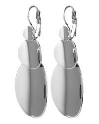 Dyrberg/Kern - Metallic Ravita Triple Drop French Hook Drop Earrings - Lyst