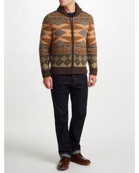 John Lewis | Multicolor Aztec Knit Full Zip Cardigan for Men | Lyst