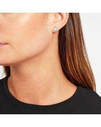 John Lewis - Metallic Semi-precious Stone Triangular Stud Earrings - Lyst