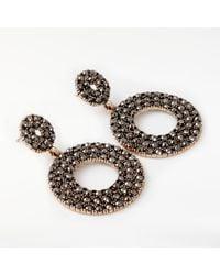 John Lewis | Metallic Sparkle Circle Drop Earrings | Lyst