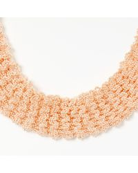 John Lewis - Metallic Beaded Chain Collar Necklace - Lyst