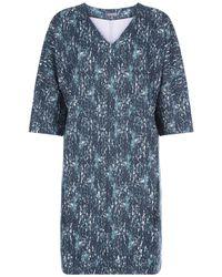 Jaeger - Blue Textured Bark Jersey Ponte Dress - Lyst