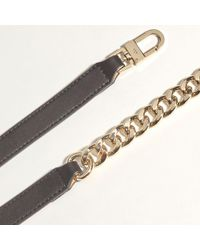Karen Millen - Black O Ring Chain And Leather Belt - Lyst