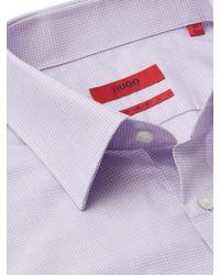 BOSS - Purple Hugo By Fine Check C-enzo Shirt for Men - Lyst