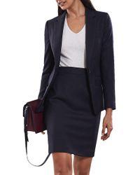 38f778eb97 Reiss Fenton Pencil Skirt in Blue - Lyst