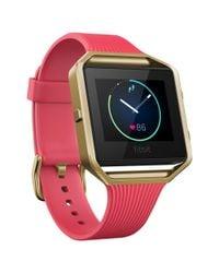 Fitbit - Multicolor Blaze Gunmetal Wireless Activity And Sleep Tracking Smart Fitness Watch - Lyst