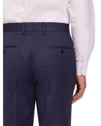 John Lewis - Blue Jaeger Plain Twill Regular Fit Trousers for Men - Lyst