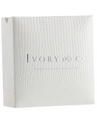Ivory & Co. - Metallic Regent Square Cubic Zirconia Pave Pendant Necklace - Lyst