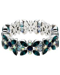 Monet - Multicolor Ab Navette And Round Cut Glass Crystal Stretch Bracelet - Lyst