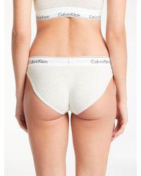 d6053726ba John Lewis Calvin Klein Underwear Modern Cotton Bralette in White - Lyst