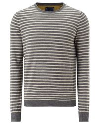 John Lewis | Gray Budding Stripe Cotton Jumper for Men | Lyst