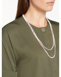 John Lewis - Pink Faux Pearl Beaded Necklace - Lyst