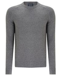 John Lewis | Gray Saddle Knit Linen Cotton Jumper for Men | Lyst