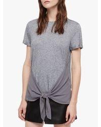 AllSaints - Gray Yato T-shirt - Lyst