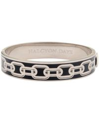 Halcyon Days - Black Chain Hinge Bangle - Lyst