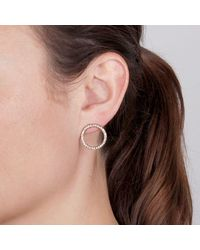 Dyrberg/Kern - Metallic Roselle Swarovski Crystal Open Circle Drop Earrings - Lyst