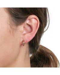 Dyrberg/Kern - Metallic Small Stud Hoop Earrings - Lyst
