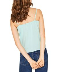 Oasis - Blue Lace Trimmed Camisole - Lyst