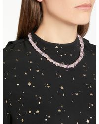 John Lewis - Pink Glass Crystal Collar Necklace - Lyst