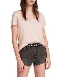 AllSaints - Pink Emelyn Tonic T-shirt - Lyst