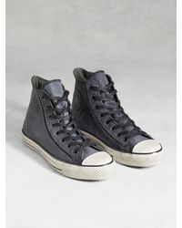 John Varvatos | Gray Chuck Taylor White Wash High Top for Men | Lyst