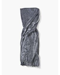 John Varvatos - Blue Paisley Scarf for Men - Lyst