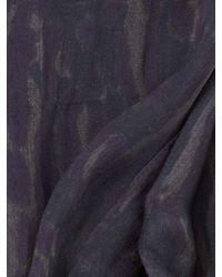 John Varvatos - Blue Ccrinkled Leopard Printed Light Weight Scarf for Men - Lyst