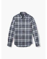 John Varvatos | Blue Plaid Sport Shirt for Men | Lyst