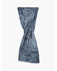 John Varvatos - Blue Woven Floral Scarf for Men - Lyst