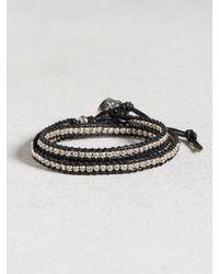 John Varvatos | Black 3-layer Beaded Wrap Bracelet for Men | Lyst
