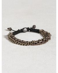 John Varvatos | Metallic Multi-chain Sterling Silver Bracelet for Men | Lyst