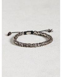 John Varvatos | Metallic Oxidized Sterling Silver Bracelet for Men | Lyst