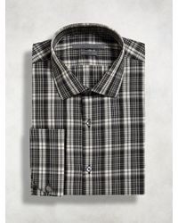 John Varvatos - Black Trim Fit Dress Shirt for Men - Lyst