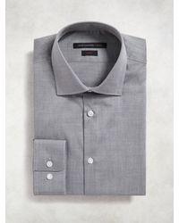 John Varvatos - Gray Slim Fit Dress Shirt for Men - Lyst