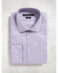 John Varvatos - Purple Slim Fit Dress Shirt for Men - Lyst