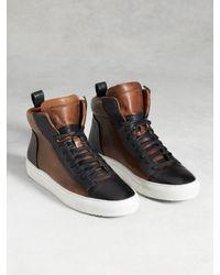John Varvatos   Black 315 Reed Raw Edge High Top Sneaker for Men   Lyst