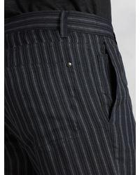 John Varvatos - Black Linen Stripe Motor City Jean for Men - Lyst
