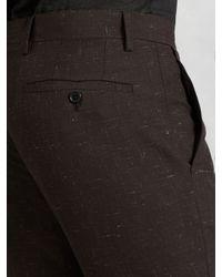 John Varvatos - Brown Austin Fit Dress Pant for Men - Lyst