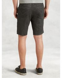 John Varvatos - Gray Jeans Style Knit Short for Men - Lyst