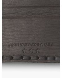 John Varvatos - Brown Braided Edge Card Case for Men - Lyst