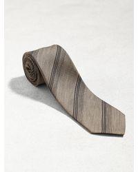 John Varvatos - Brown Classic Contrast Stripe Tie for Men - Lyst
